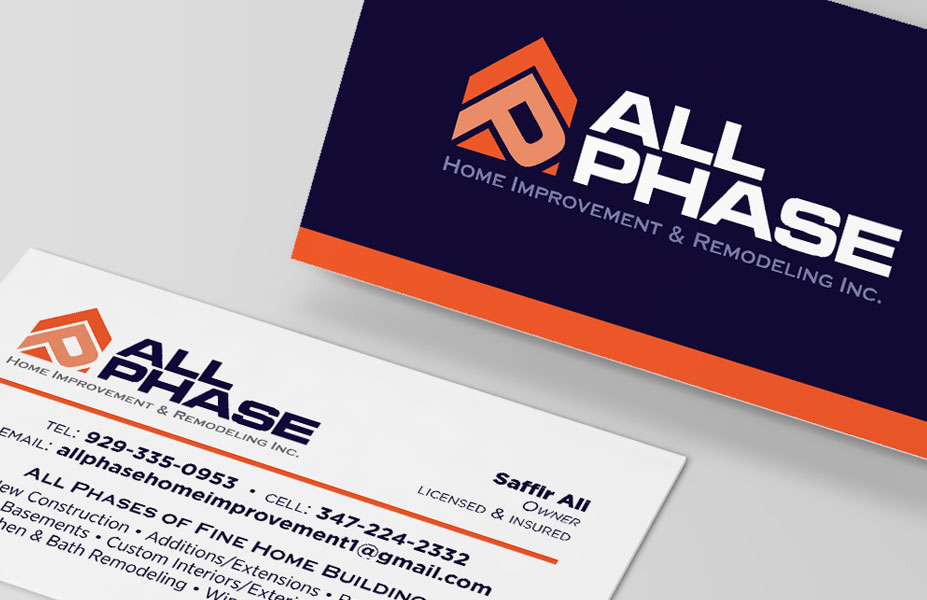 All Phase Home Improvement Branding & Business Card