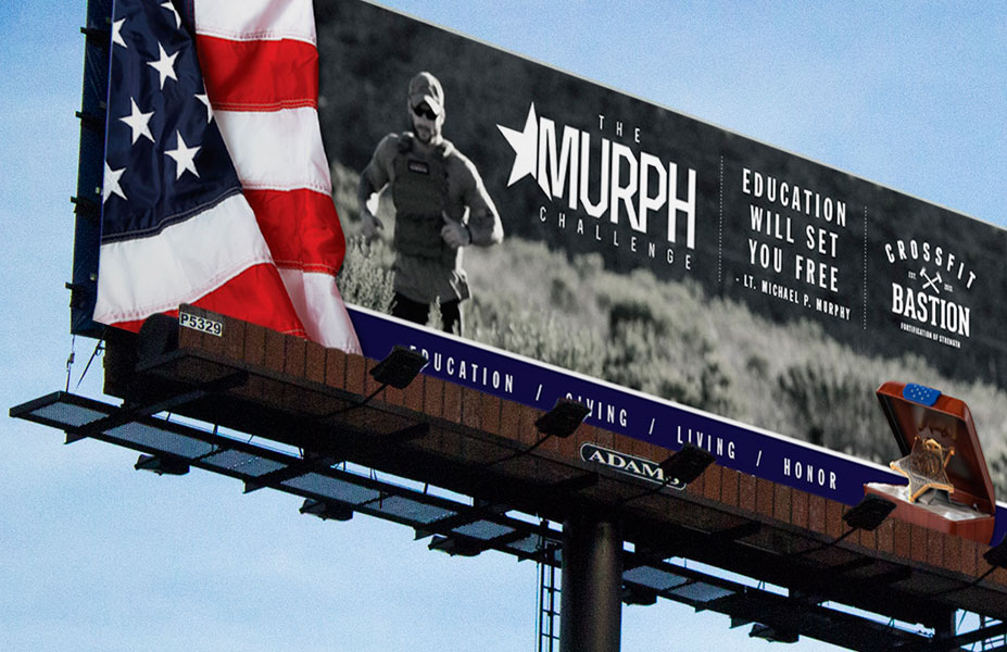 The Michael Murphy Foundation Challenge Banner Print Design